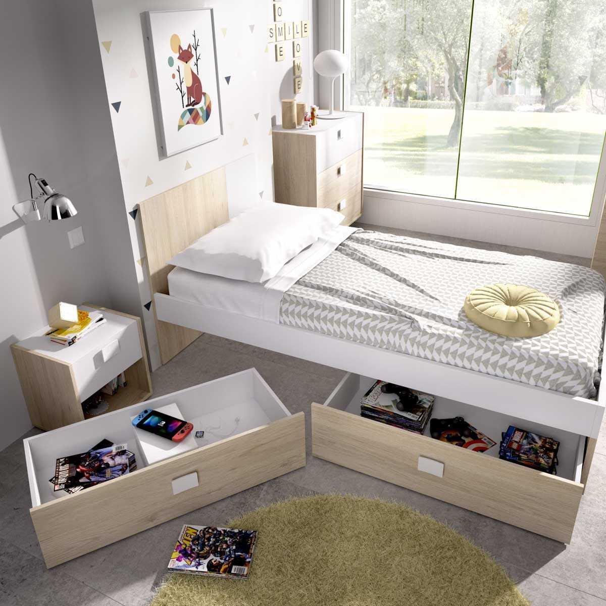 2 cajones cama inferior 1