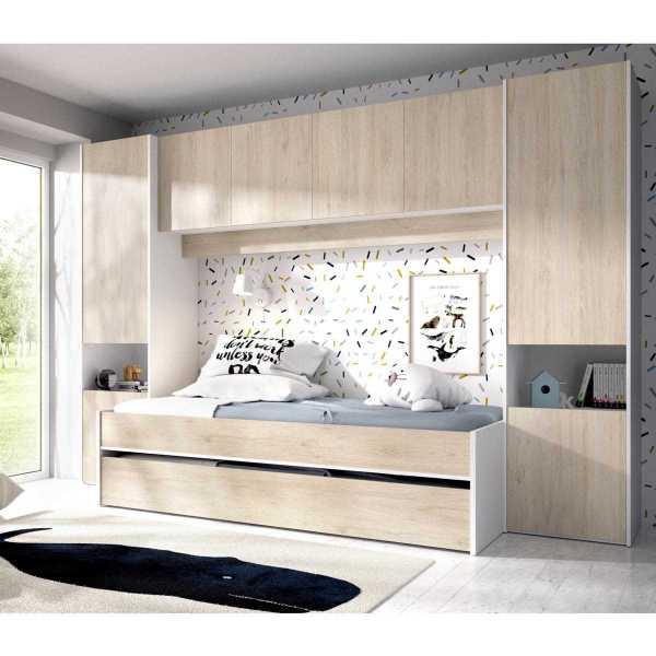 2 camas con armario y altillo 3