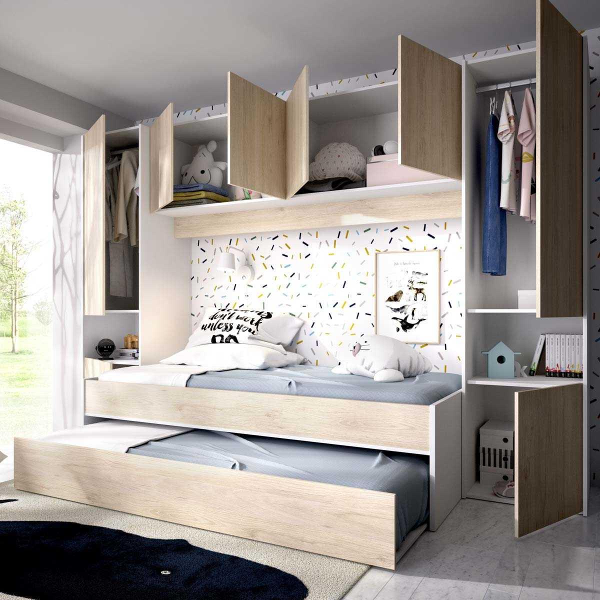 2 camas con armario y altillo 4