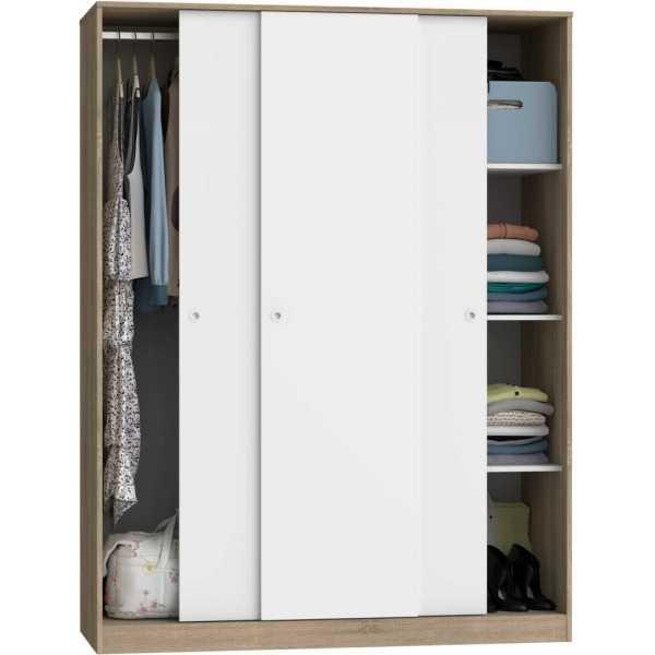 22029 armario tres puertas correderas cambrian y blanco atrezzo