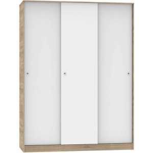 22029 armario tres puertas correderas cambrian y blanco cerrado