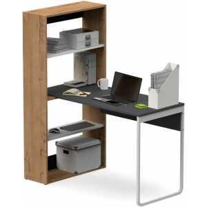 23118 mesa con estanteria slida vertical