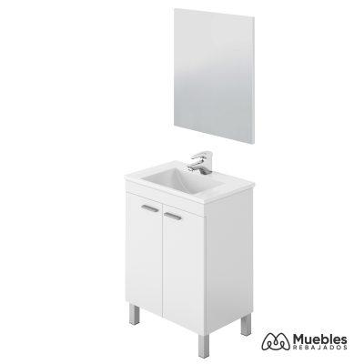 Mueble para baño pequeño espejo