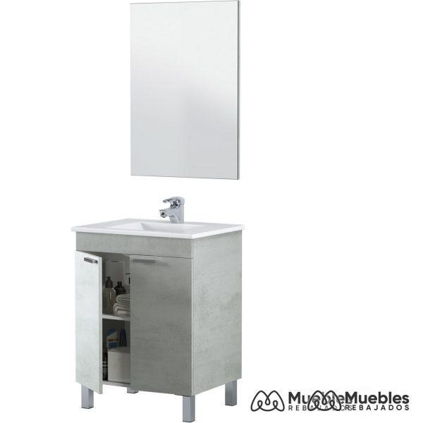 Mueble y lavabo barato espejo