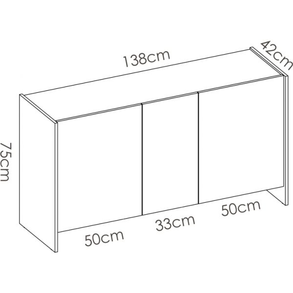 aparador 3 puertas 138 cm 1