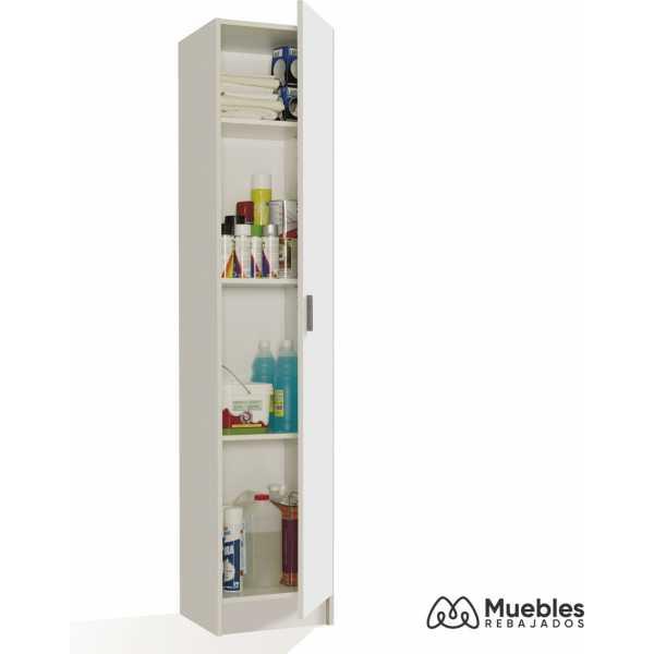 armario 1 puerta alto blanco 007141o