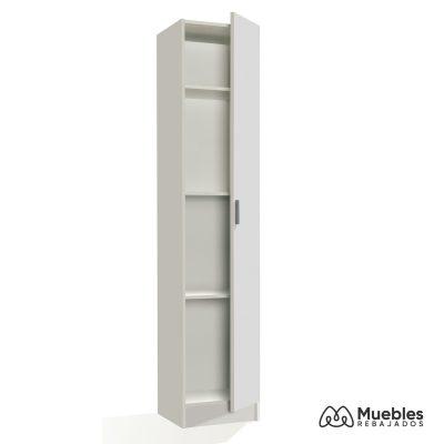 armario 1 puerta blanco 007141o