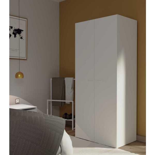 armario 2 puertas blanco 1106