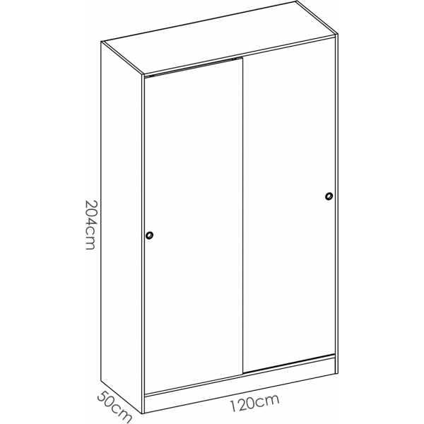 armario 2 puertas corredera plus 120 natural y blanco brillo 5