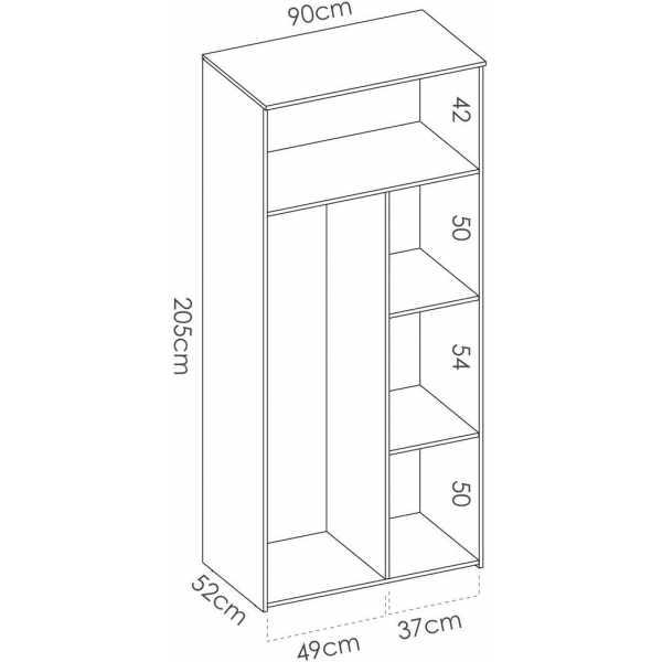 armario 2 puertas nordico 5
