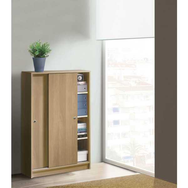 armario bajo correderas madera 3844