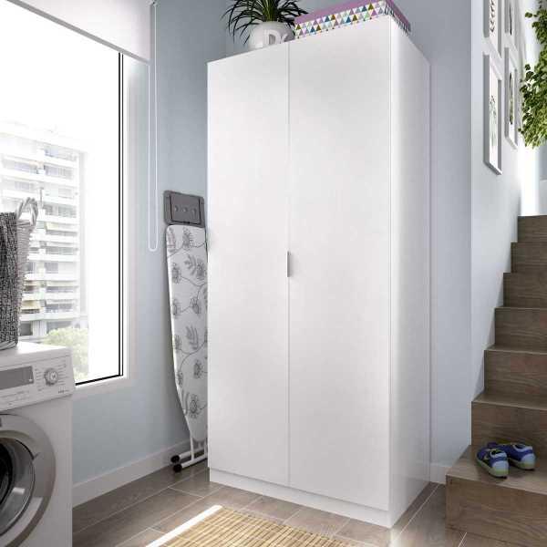 armario blanco 2 puertas 80 cm 1