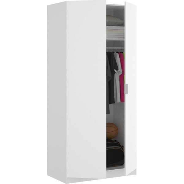 armario blanco 2 puertas 80 cm 2