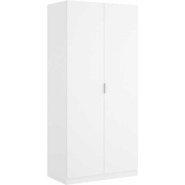 armario blanco 2 puertas 80 cm 3