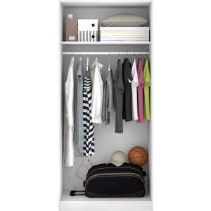 armario blanco 2 puertas 80 cm 4