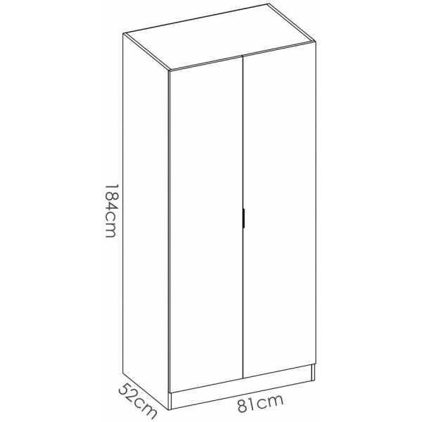 armario blanco 2 puertas 80 cm 6