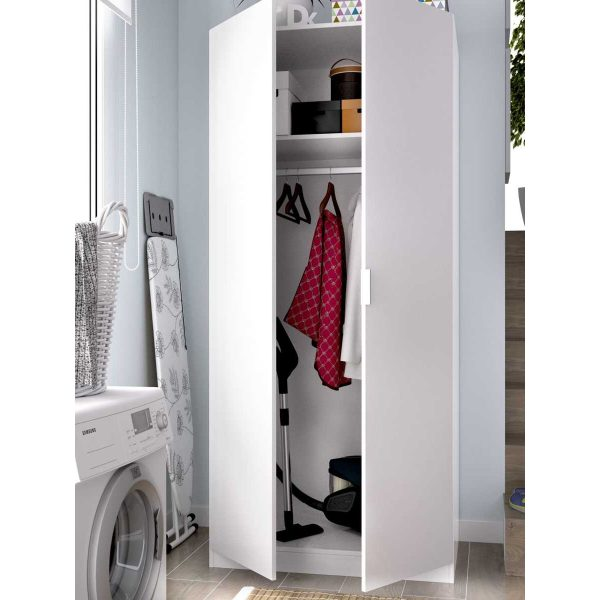armario blanco 2 puertas 80 cm