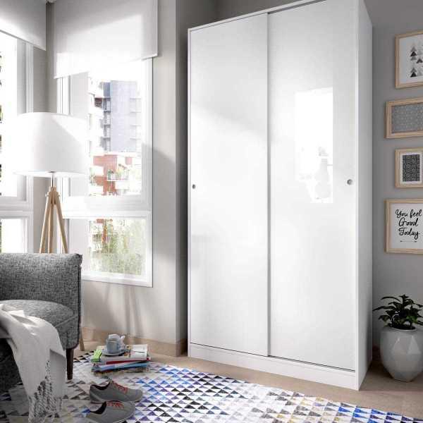 armario blanco brillo 2 puertas corredera 100 cm 1