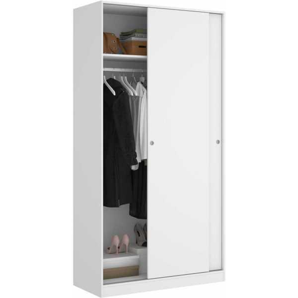 armario blanco brillo 2 puertas corredera 100 cm 2