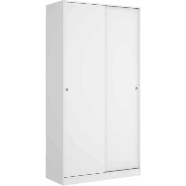 armario blanco brillo 2 puertas corredera 100 cm 3
