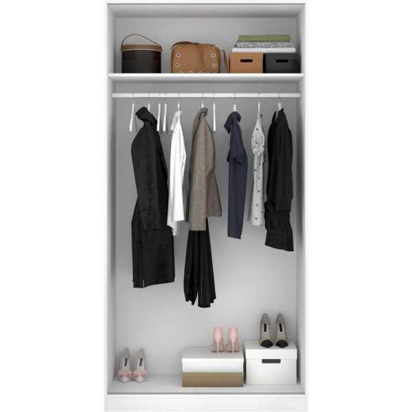 armario blanco brillo 2 puertas corredera 100 cm 4