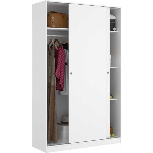 armario blanco brillo 2 puertas corredera 120 cm 1