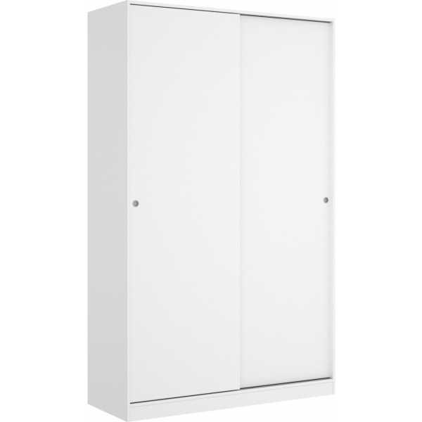 armario blanco brillo 2 puertas corredera 120 cm 2