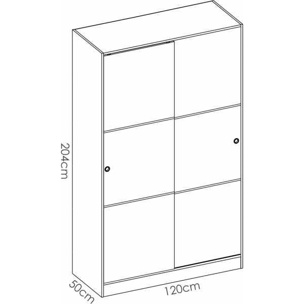 armario blanco brillo 2 puertas corredera 120 cm 5