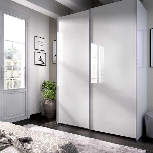 armario blanco brillo 2 puertas corredera 150 1
