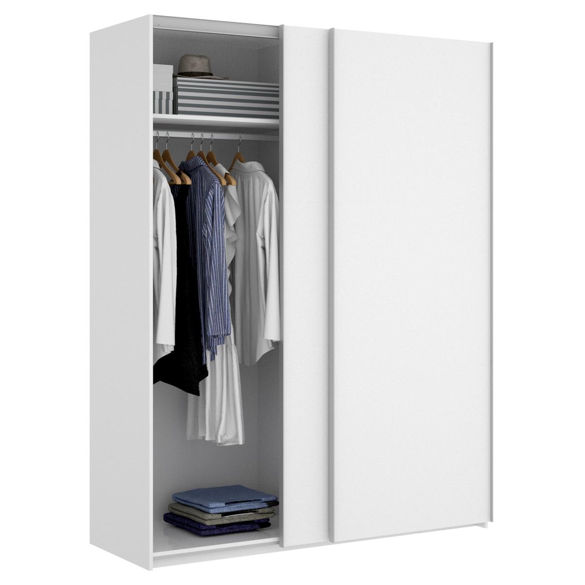 armario blanco brillo 2 puertas corredera 150 2