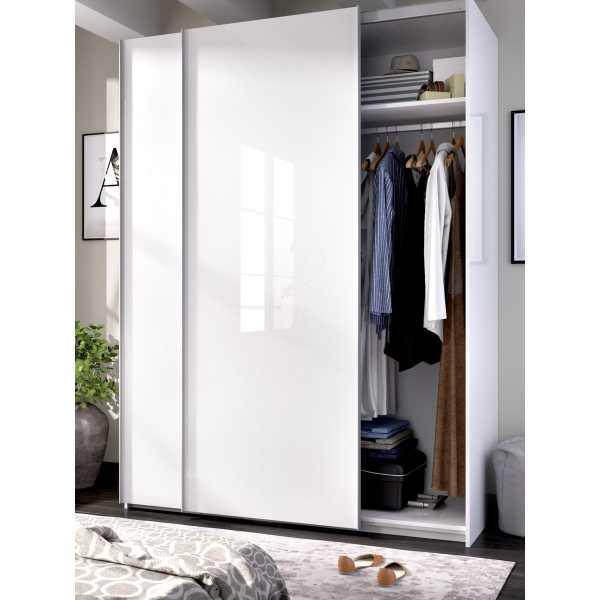 armario blanco brillo 2 puertas corredera 150 3
