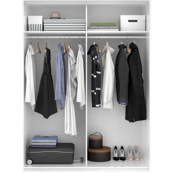 armario blanco brillo 2 puertas corredera 150