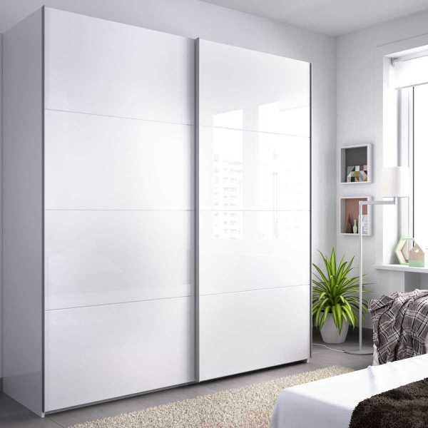 armario blanco brillo 2 puertas corredera 180 cm 2