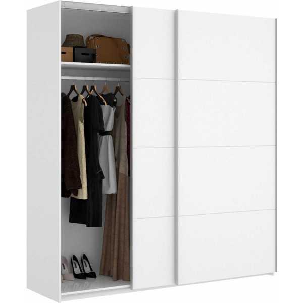 armario blanco brillo 2 puertas corredera 180 cm 3