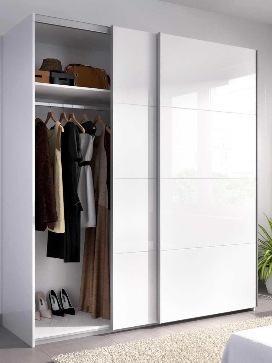 armario blanco brillo 2 puertas corredera 180 cm