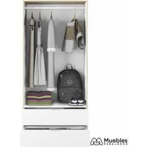 armario blanco y madera moderno lc1222f