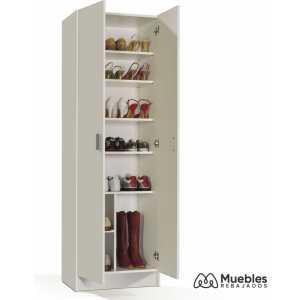 armario con estantes blanco 007146o