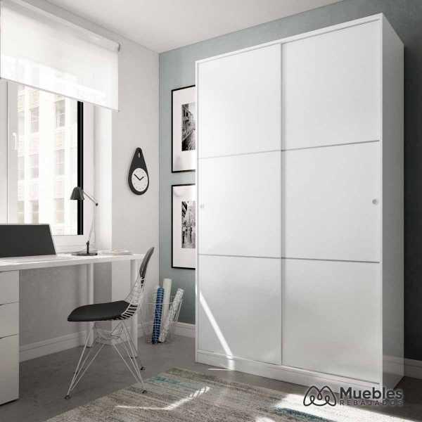 armario con puerta corredera blanco max020bo