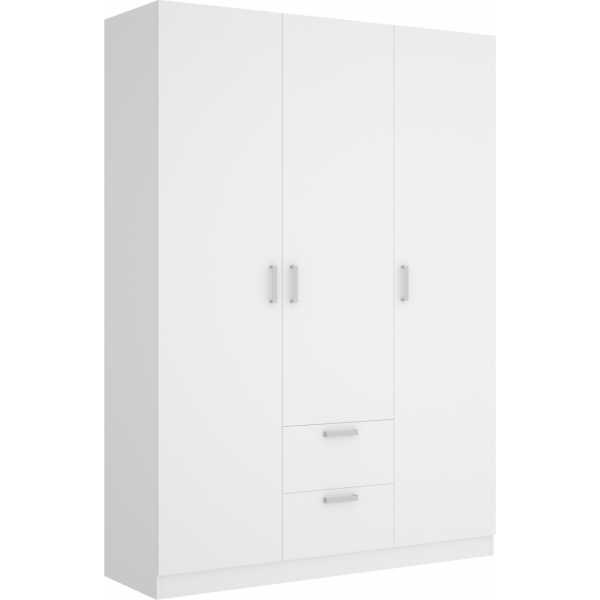 armario de 3 puertas y 2 cajones 150cm blanco 9