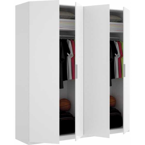 armario de 4 puertas 180cm blanco 1