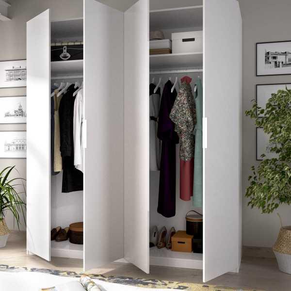 armario de 4 puertas 180cm blanco 3