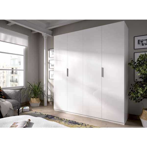 armario de 4 puertas 180cm blanco 4