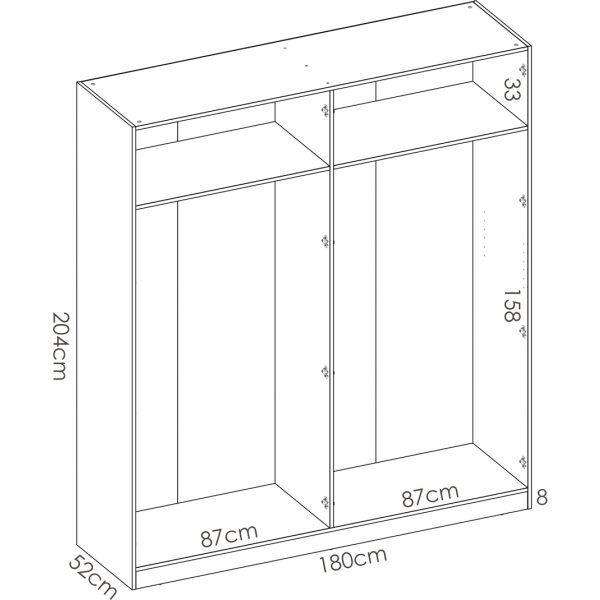 armario de 4 puertas 180cm blanco 7