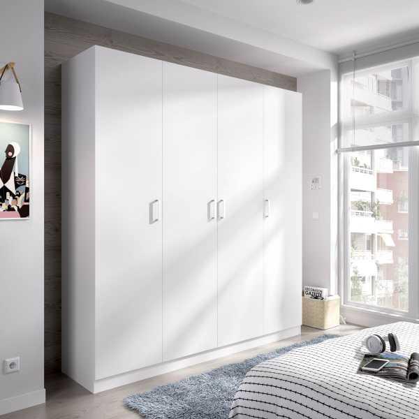 armario de 4 puertas 200cm blanco 2