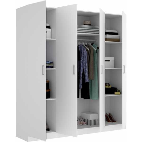 armario de 4 puertas 200cm blanco 3