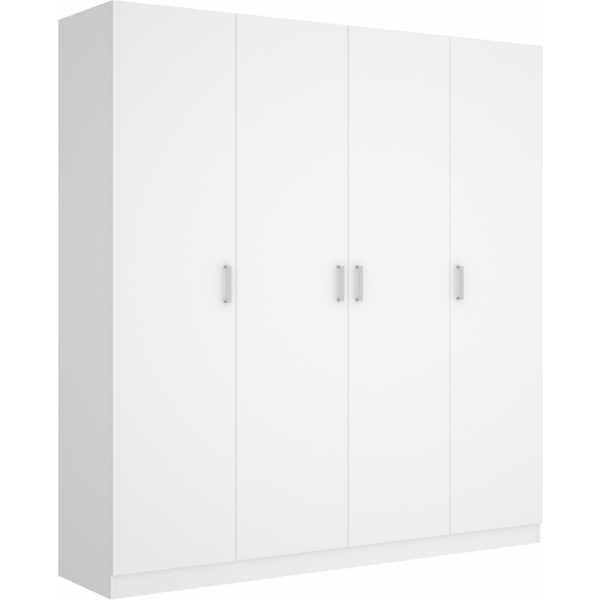 armario de 4 puertas 200cm blanco