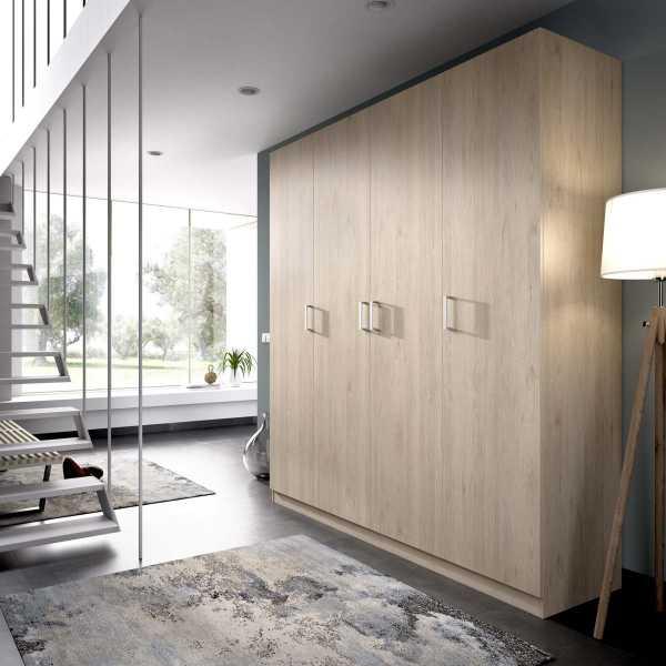 armario de 4 puertas 200cm natural 2
