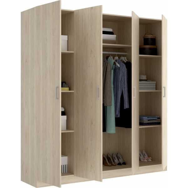 armario de 4 puertas 200cm natural 3