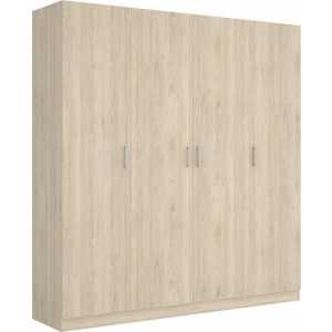 armario de 4 puertas 200cm natural
