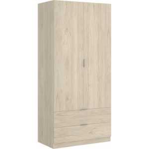 armario dormitorio 2 puertas con 2 cajones de 80 cm